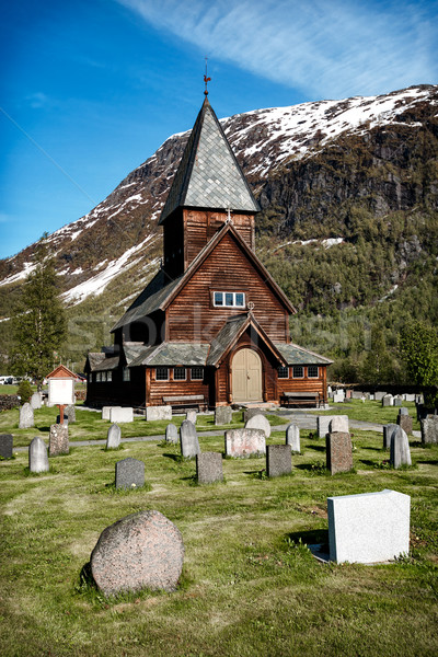 Roldal Stave Church, Norway Stock photo © cookelma