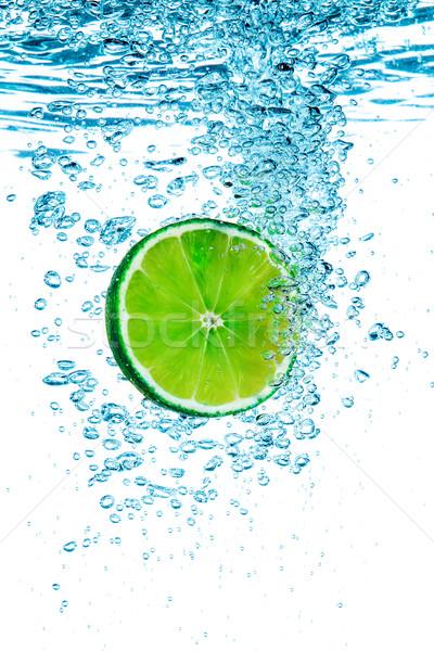 Grünen Kalk Wasser frischen weiß abstrakten Stock foto © cookelma