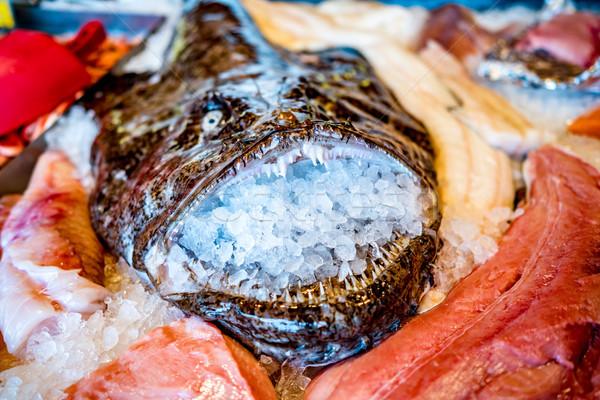 Vis markt zeevruchten zee Stockfoto © cookelma