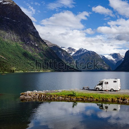 семьи отпуск путешествия праздник поездку караван Сток-фото © cookelma