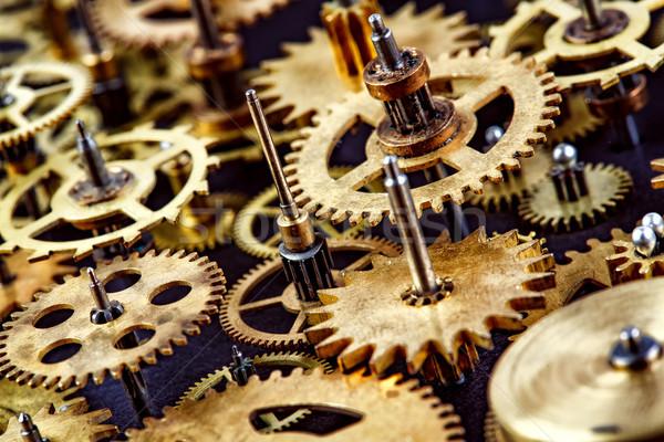 Eski mekanizma siyah çalışmak teknoloji Stok fotoğraf © cookelma