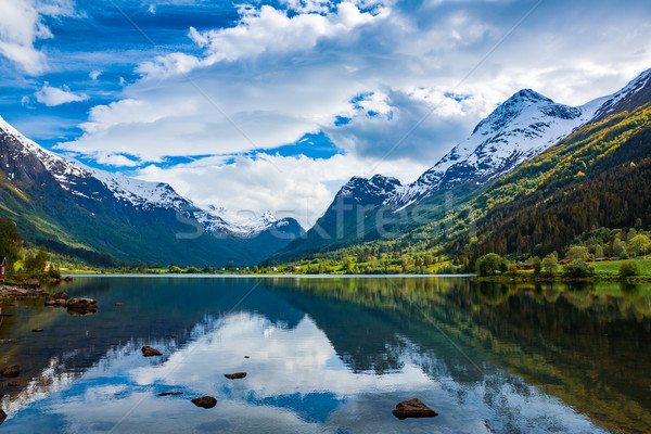 Bella natura Norvegia naturale panorama cielo Foto d'archivio © cookelma