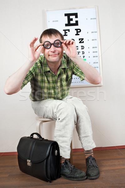 Osoby okulary biuro lekarza kobieta Zdjęcia stock © cookelma