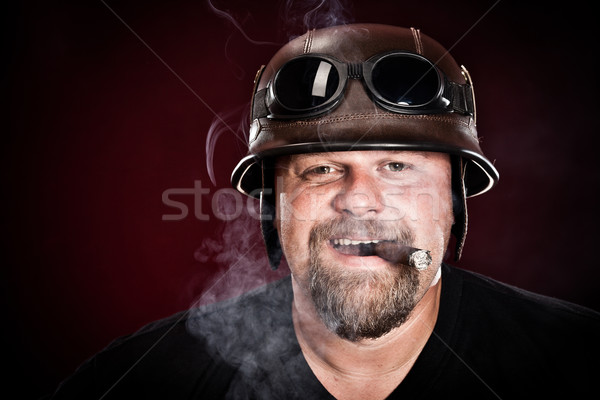 biker in a helmet Stock photo © cookelma