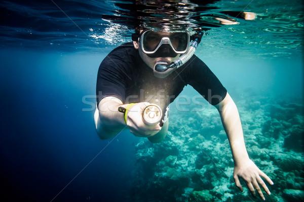 Snorkeler Stock photo © cookelma