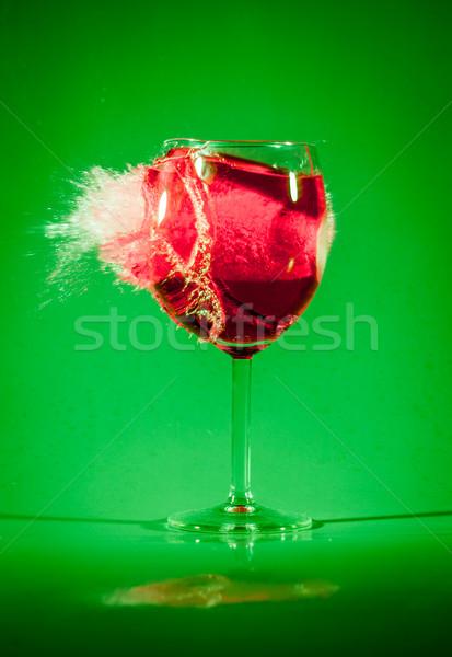 Cam içmek kurşun çok sıçraması etrafında Stok fotoğraf © cookelma