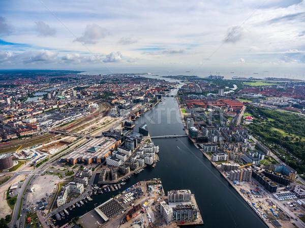 город Копенгаген Дания мнение птиц Сток-фото © cookelma