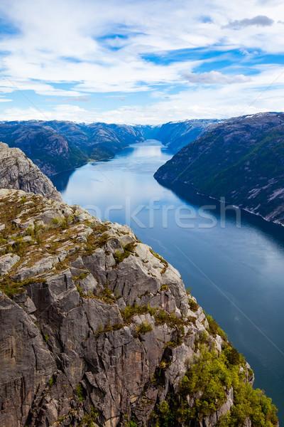 Anglais Rock célèbre attraction touristique arbre paysage Photo stock © cookelma