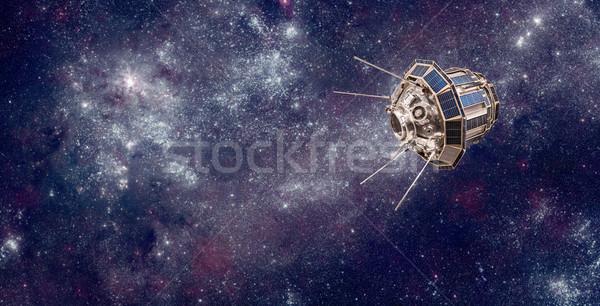 Uzay uydu dünya gezegeni toprak elemanları görüntü Stok fotoğraf © cookelma