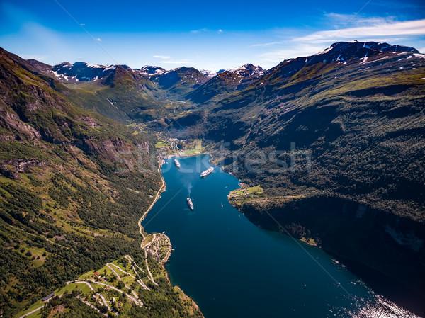 Norvegia bella natura fotografia lungo Foto d'archivio © cookelma