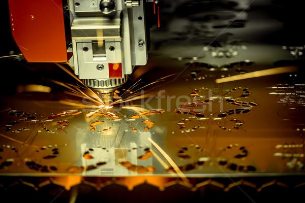 Láser metal moderna industrial tecnología Foto stock © cookelma