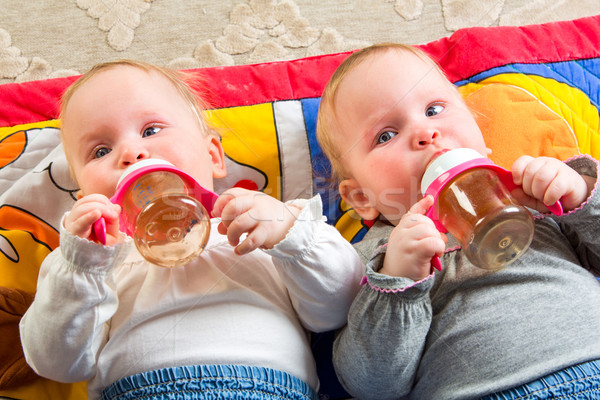 babies eating from bottle Stock photo © cookelma