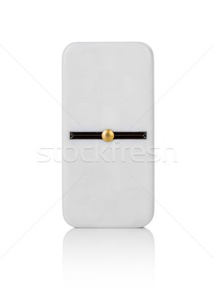 Egy csempe izolált fehér háttér minta Stock fotó © cookelma