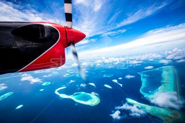 Maldives indian océan hôtel île vue Photo stock © cookelma