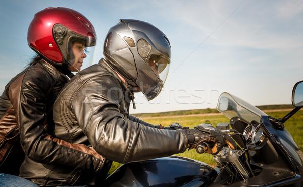 Bikers on the road Stock photo © cookelma