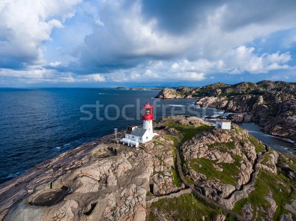 Latarni Norwegia piękna charakter naturalnych krajobraz Zdjęcia stock © cookelma
