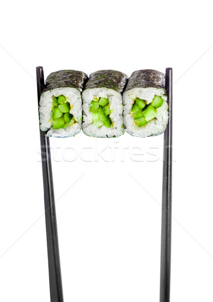 Sushis rouler maki blanche poissons cuisine Photo stock © cookelma