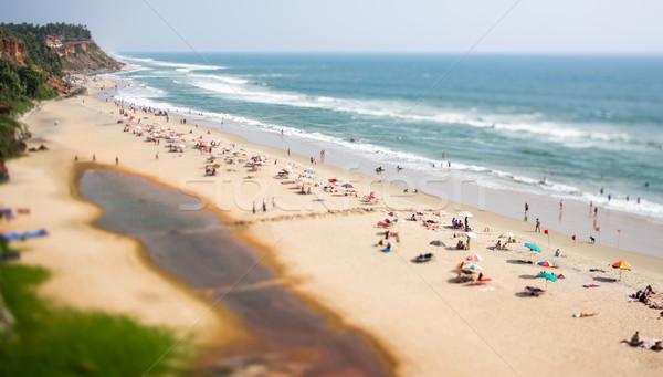 Plaj Hint okyanus Hindistan vardiya objektif Stok fotoğraf © cookelma