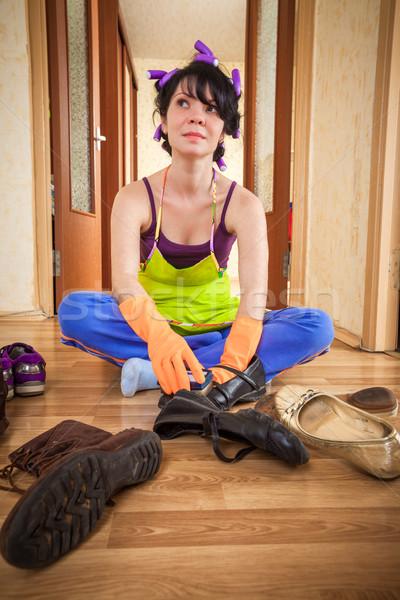housewife Stock photo © cookelma