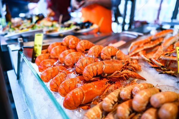 Vis markt zeevruchten landschap Stockfoto © cookelma