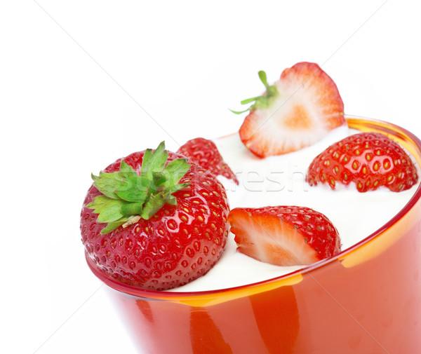 strawberries Stock photo © cookelma