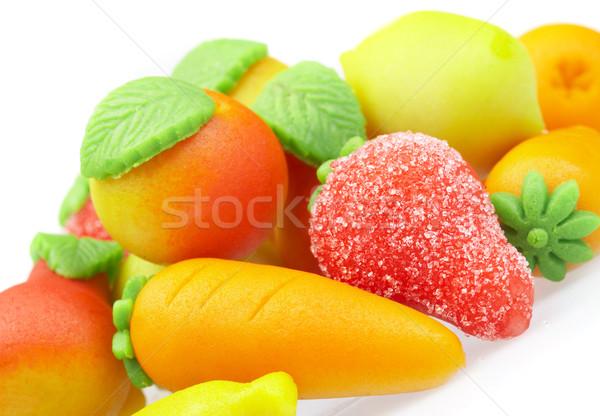édesség marcipán űrlap gyümölcs Stock fotó © cookelma