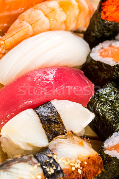Sushi. Sea food combination Stock photo © cookelma