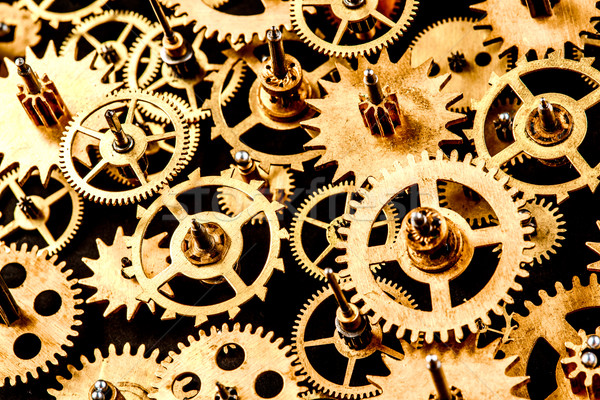 Vieux mécanisme noir technologie fond Photo stock © cookelma