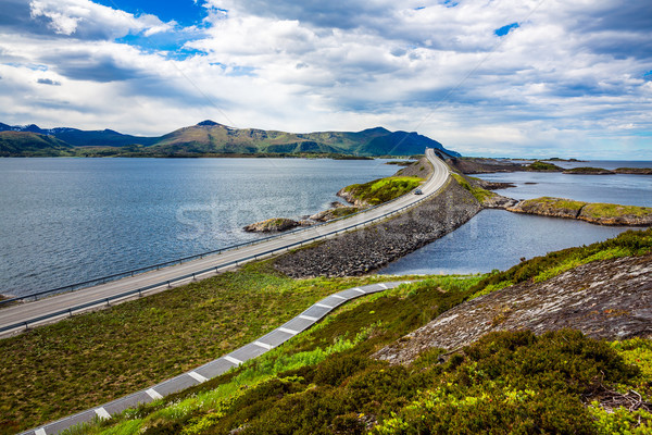 Atlantic Ocean Road Norway Stock photo © cookelma
