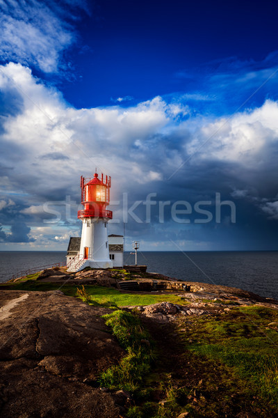 Phare Norvège belle nature naturelles paysage Photo stock © cookelma