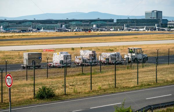 Equipaje aeropuerto pasajeros bolsa servicio volar Foto stock © cookelma