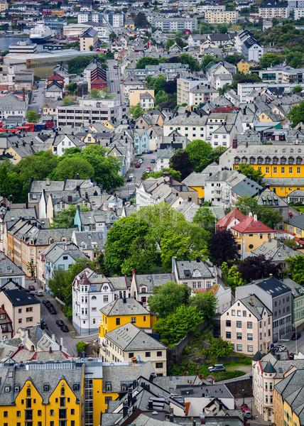 Cidade Noruega mar porta concentração art noveau Foto stock © cookelma