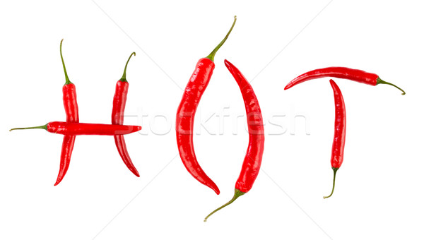 Red chilli peppers Stock photo © cookelma