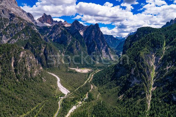 Sceniczny widoku piękna krajobraz alpy charakter Zdjęcia stock © cookelma
