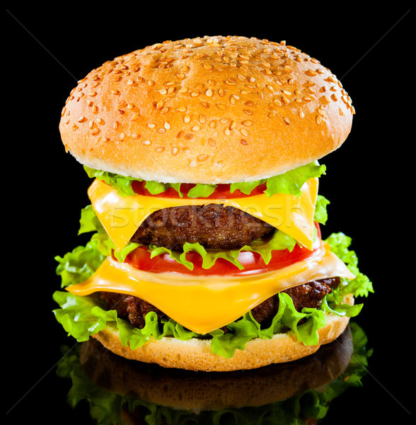 Tasty and appetizing hamburger Stock photo © cookelma