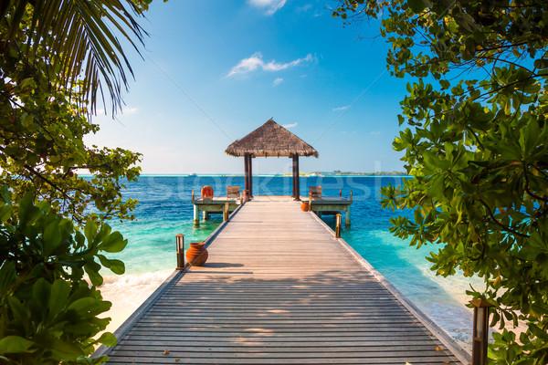Мальдивы место пляж свадьбах природы морем Сток-фото © cookelma