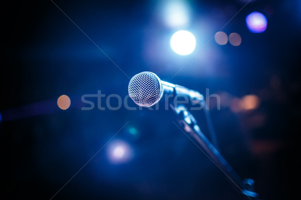 Microphone on stage Stock photo © cookelma