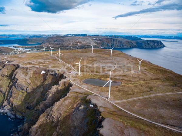 Elektryczne moc produkcji arktyczny widoku Zdjęcia stock © cookelma