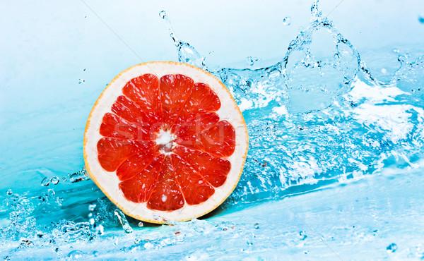 Stock fotó: Grapefruit · víz · édesvíz · csobbanás · piros · narancs