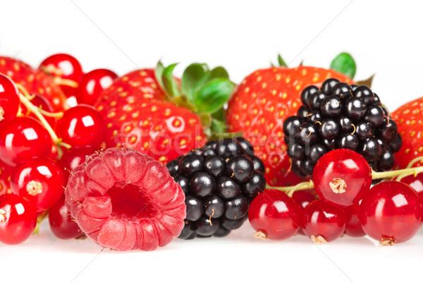 Foto stock: Diferente · fresco · branco · fruto · vermelho