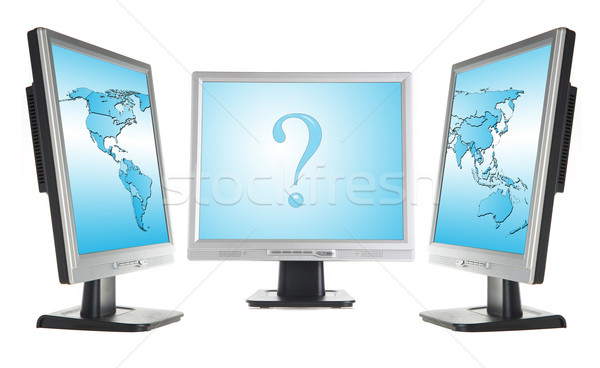 monitors and world map Stock photo © cookelma