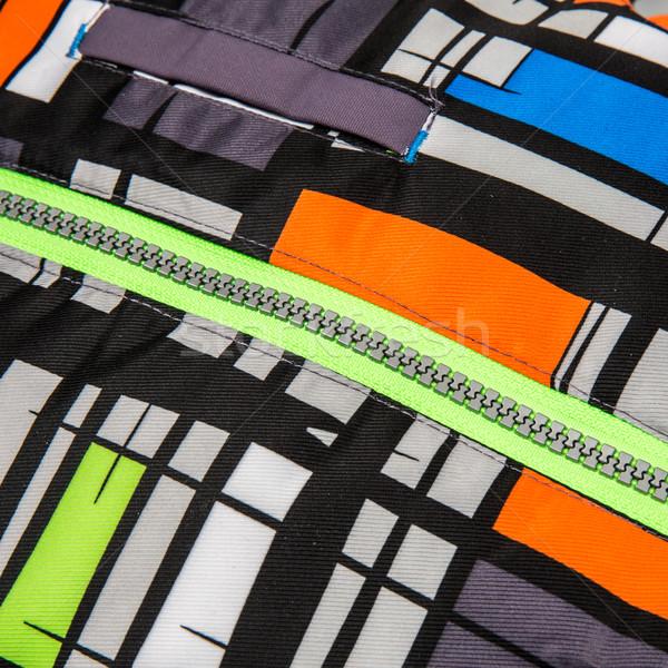 Zíper colorido projeto tecido pano Foto stock © cookelma