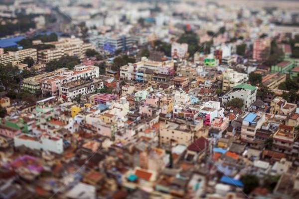 Bird's eye view of Tiruchirappalli Stock photo © cookelma
