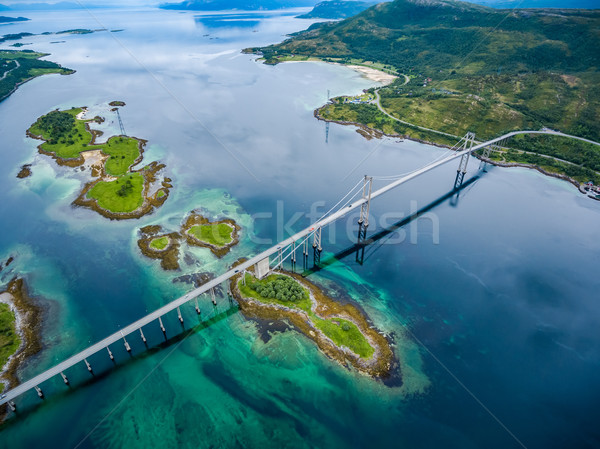 Tjeldsundbrua bridge in Norway Stock photo © cookelma