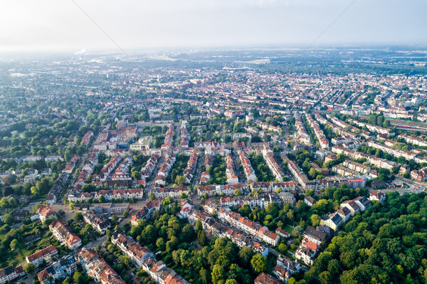 City Municipality of Bremen Aerial FPV drone photography.. Breme Stock photo © cookelma