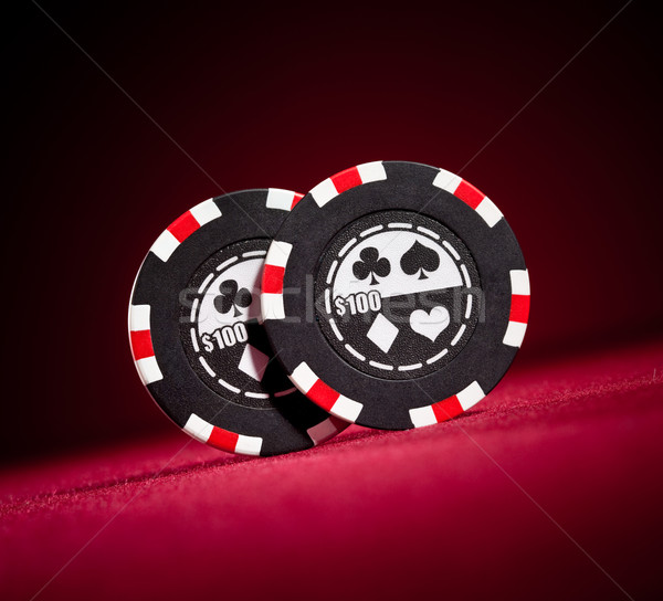 Photo stock: Casino · jeux · puces · rouge · table · poker