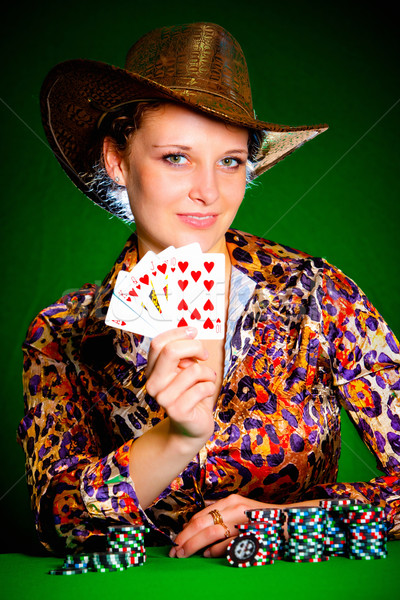 girl and royal flush Stock photo © cookelma