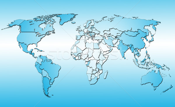 world map  Stock photo © cookelma