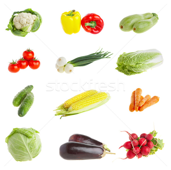 Légumes aliments sains photo feuille fitness Photo stock © cookelma