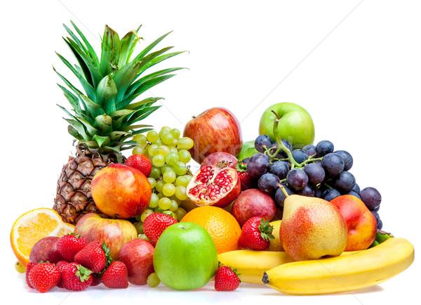 Gyümölcs fehér érett friss gyümölcs tápláló étel Stock fotó © cookelma